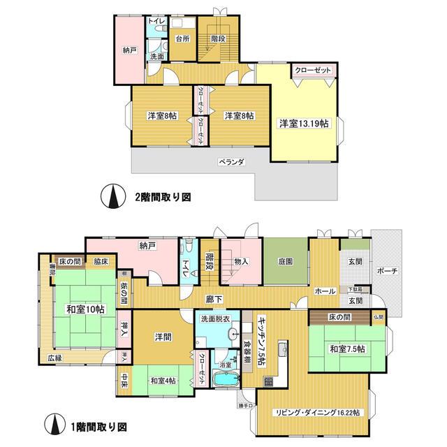 6LDK、建物面積260.76㎡(78.87坪)です。