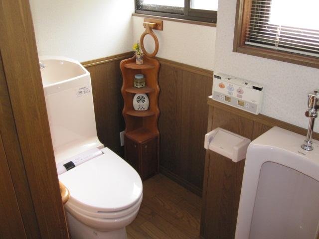 温水洗浄便座付水洗トイレ