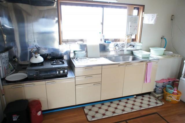 キッチンスペース。ガスはプロパンガスです。