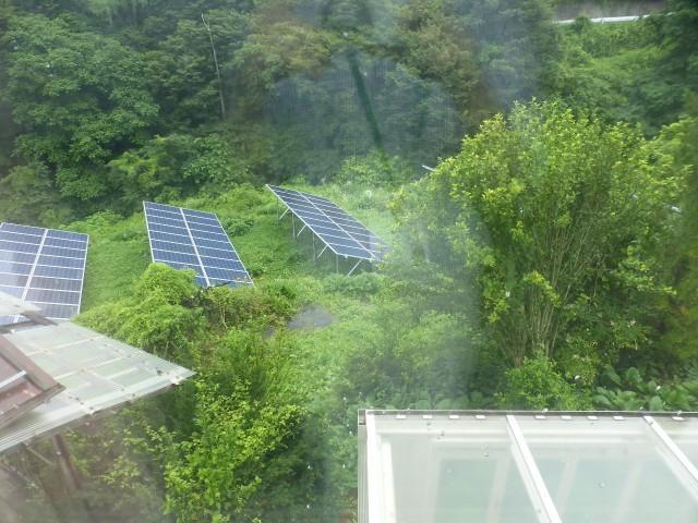 東側隣地(太陽光発電あり)